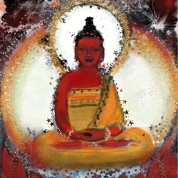 iPad Painting: Amitabha