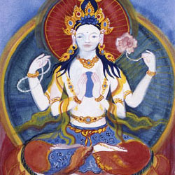 Painting: Four-armed Avalokitesvara