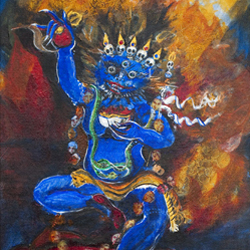Painting: Simhamukha-Lion headed dakini