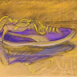 Drawing: Purple trainers